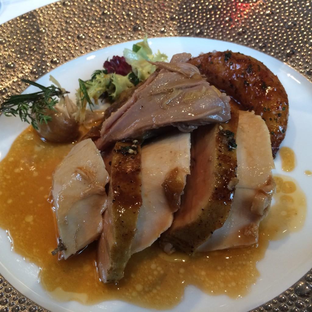 Pintade et foie gras, l'assiette © GP