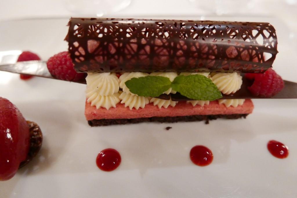 Cheese-cake framboise chocolat © GP