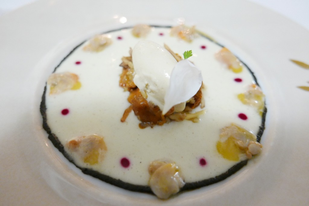 Salade de girolles et glace foie gras © GP