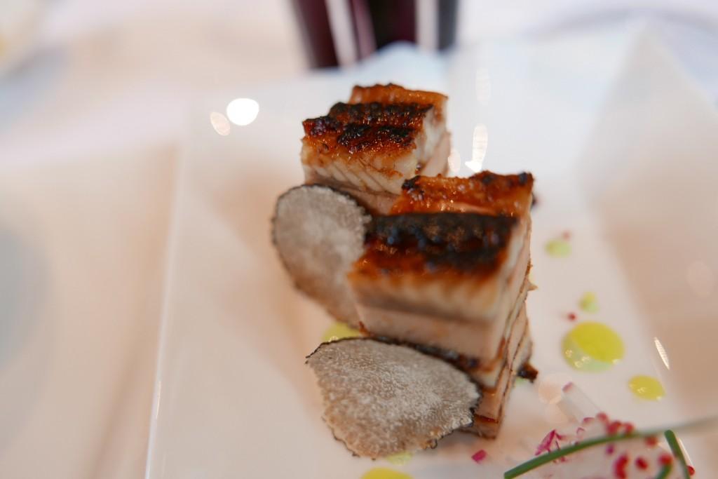 Millefeuille d'anguille au foie gras © GP