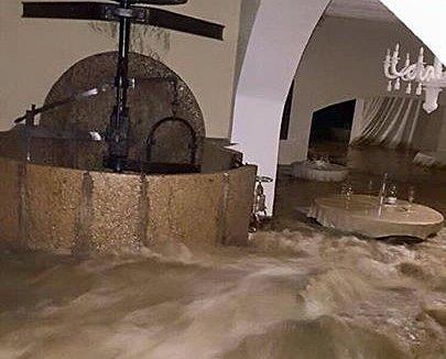 La salle inondée © DR