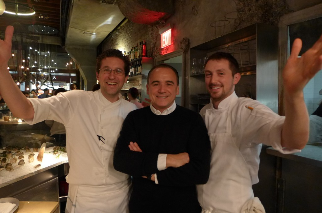 Jean Georges avec les chefs de l'ABC Cocina à NY © GP