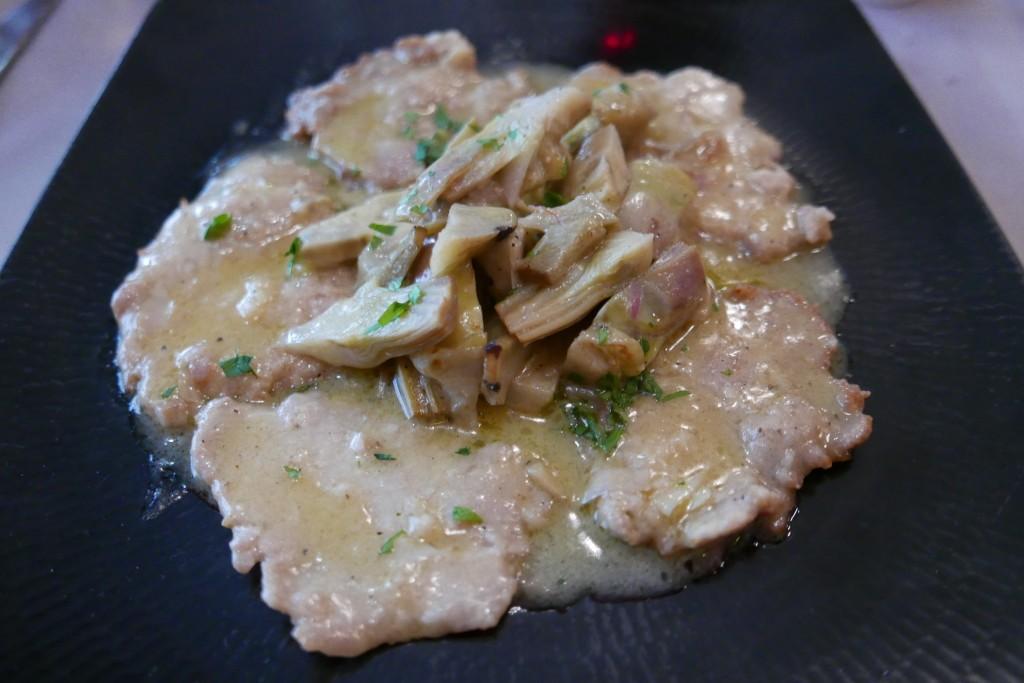 Escalope de veau aux artichauts © GP