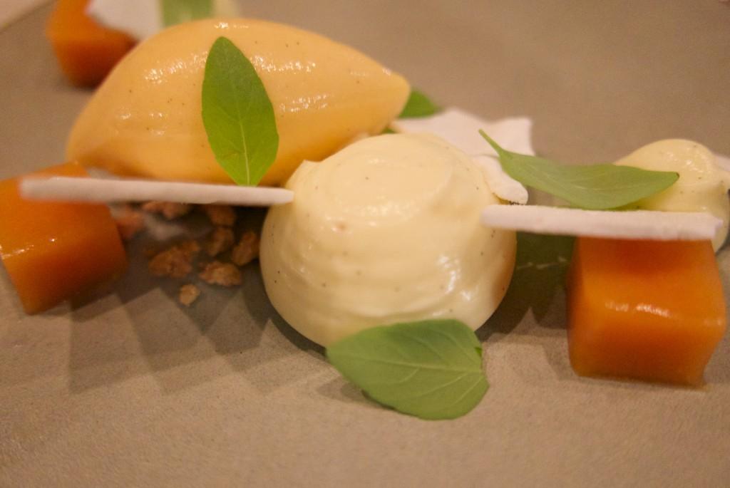 Crème citron, sorbet pêche © GP