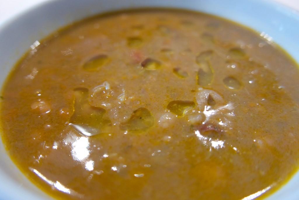 Soupe de pois chiches et haricots © GP