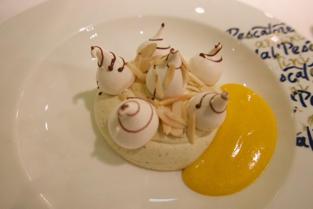 Meringue, pistache, sabayon © GP
