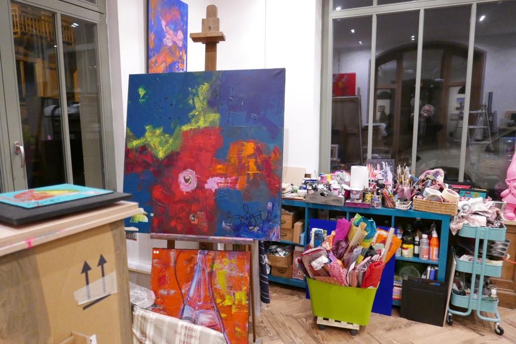 Dans l'atelier d'artiste © GP
