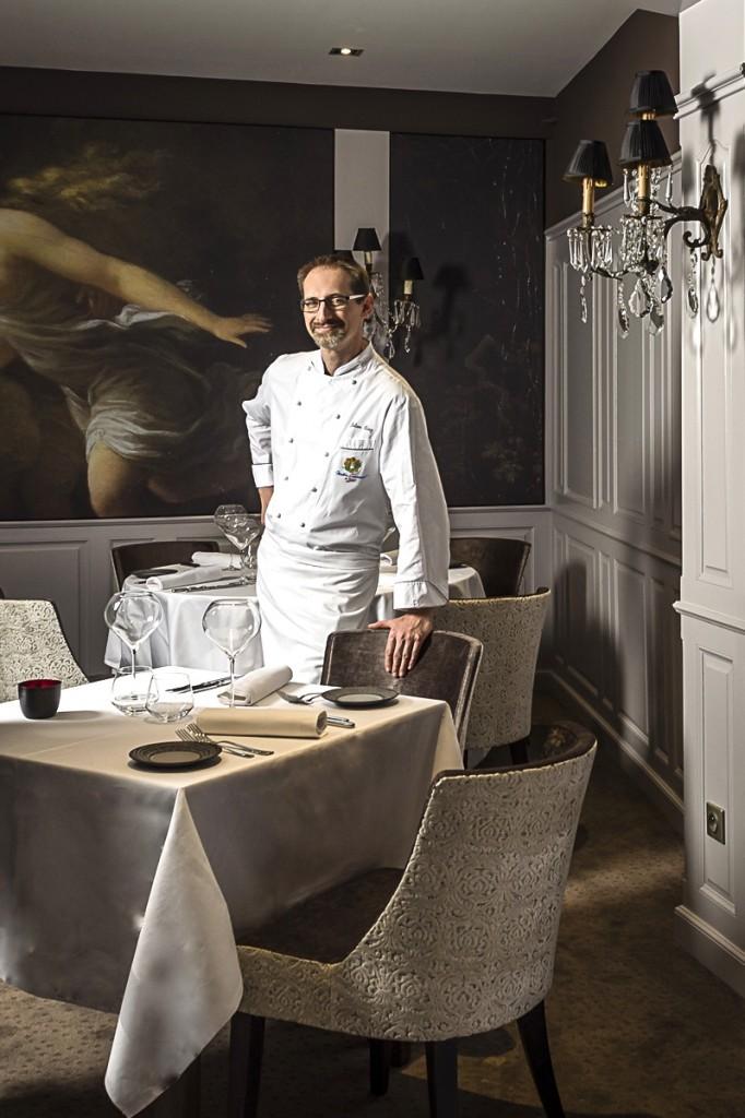 Julien Binz dans son nouveau restaurant © Sandrine Kauffer