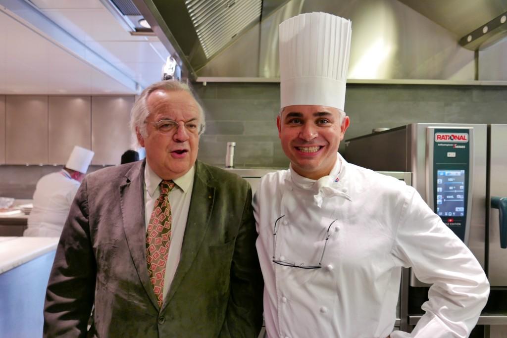 JC Ribaut et Benoit Violer lors du repas du 60e anniversaire à Crissier © GP