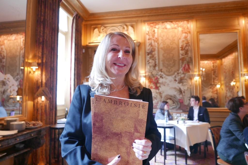 Danièle Pacaud au service © GP