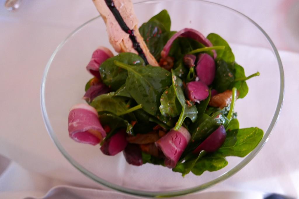 Salade de pousses d'épinard aux gésiers © GP