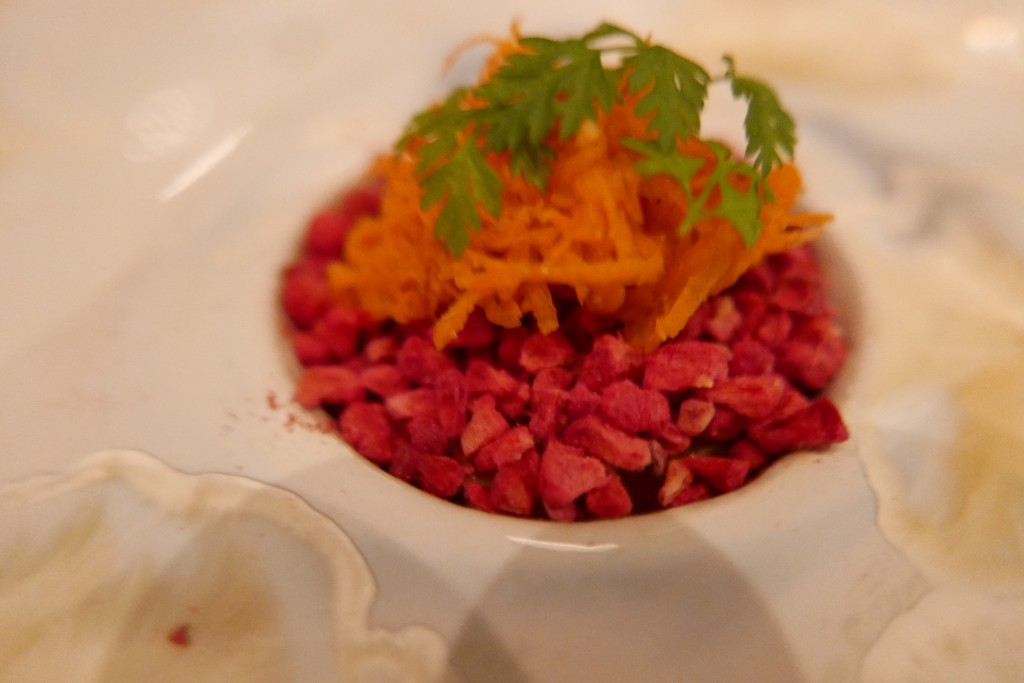 Truite, carotte et sorbier ©GP