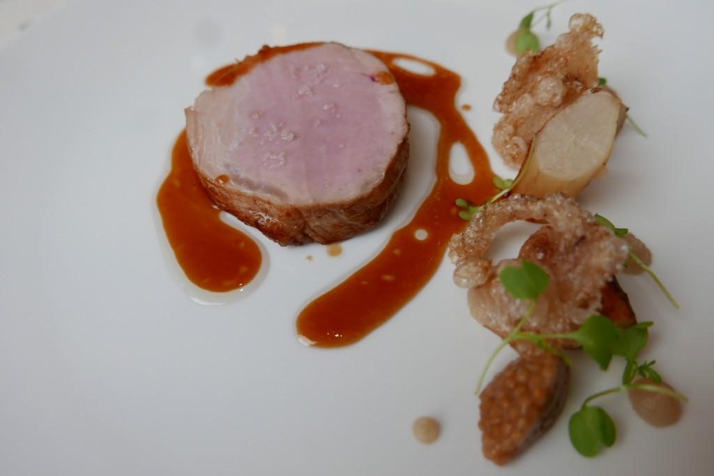 Porc ibérique, salsifis, moutarde ©GP