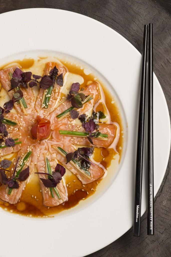 Sashimi de saumon new style ©DR