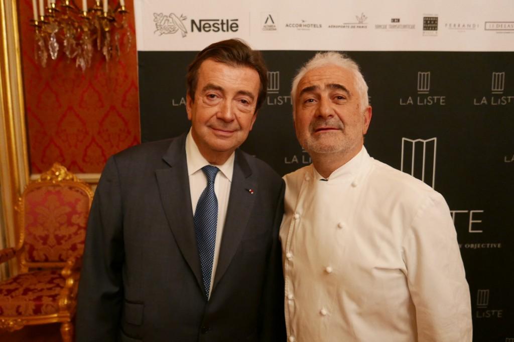 Philippe Faure et le premier Français, Guy Savoy © GP