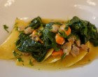 Ravioli ricotta, palourdes, pousses de brocolis © GP