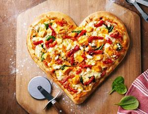 Pizza en forme de coeur © DR