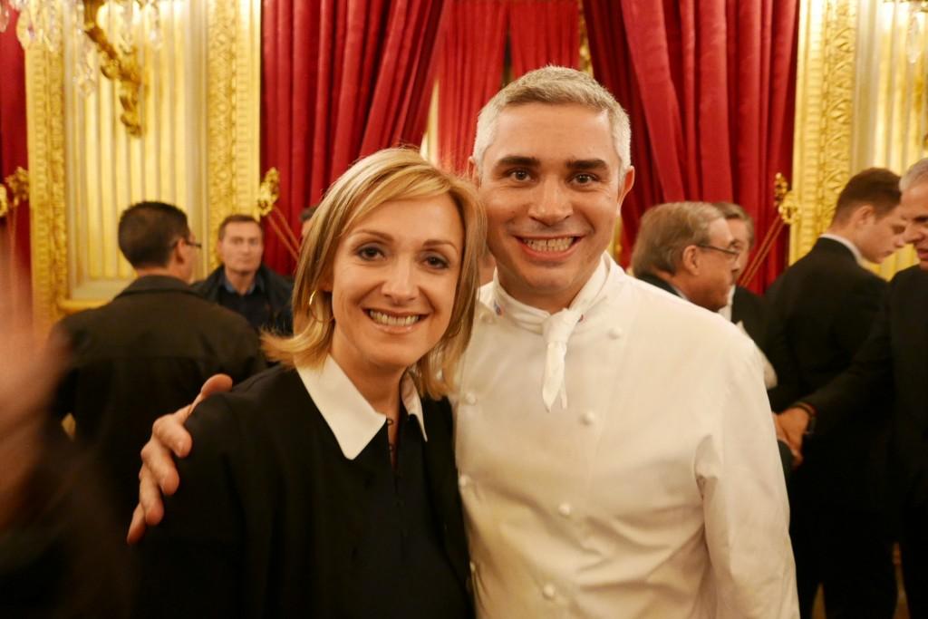 Brigitte et Benoît Violier, le 17 décembre 2015 au Quai d'Orsay ©GP