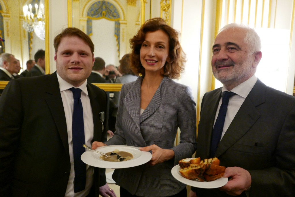 Clement Leroy, Audrey Azoulay, Guy Savoy  © GP