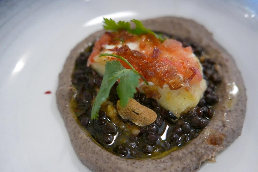 Lentilles, aubergines et labné ©GP