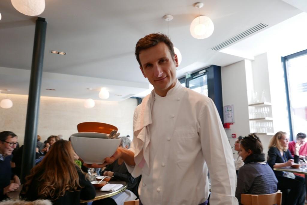 Christophe Saintagne au service © GP