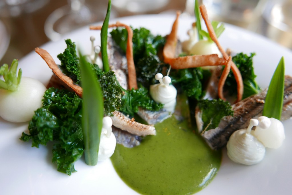 Sardines italiennes, kale crème d'oseille ©GP