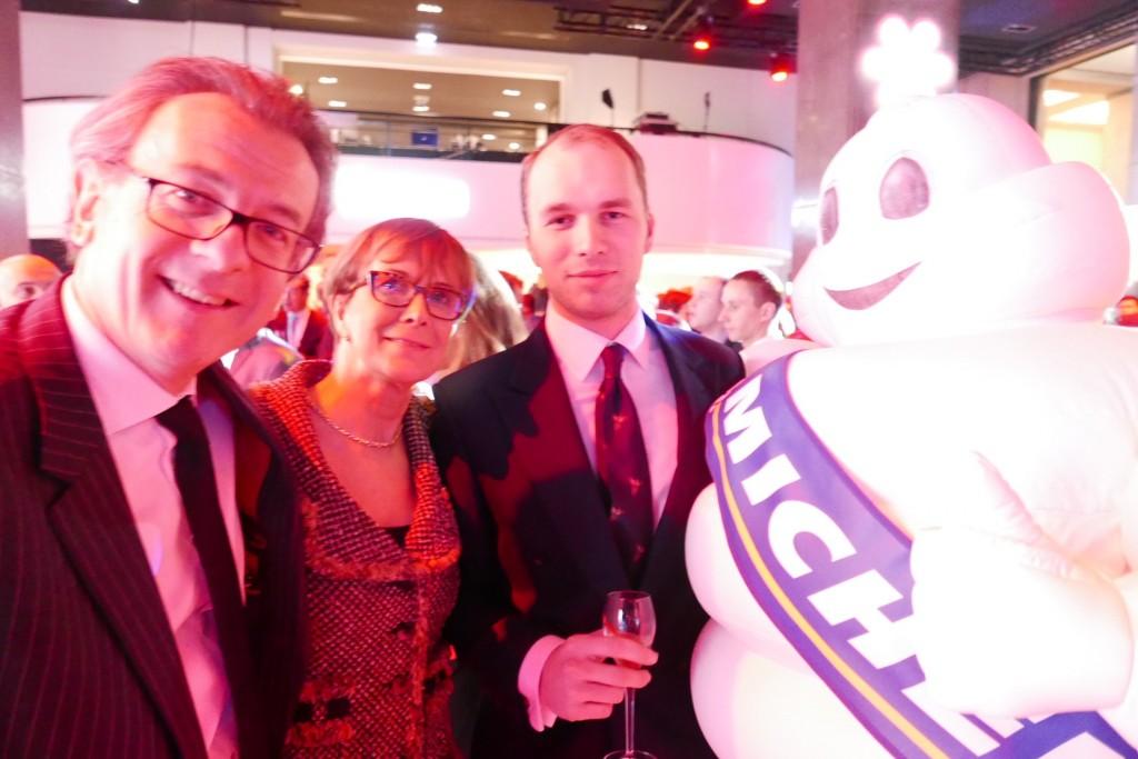 Laurent Gardinier (Taillevent, les Crayères), Dominique et Bastien Loiseau ©GP