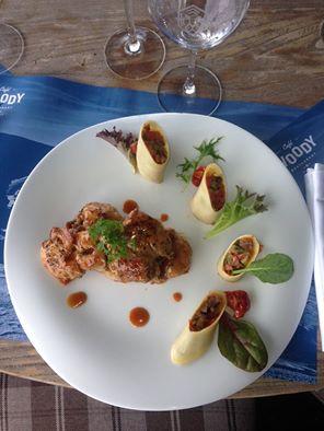 Araignée de porc au balsamique, cannelloni de piperade © DR