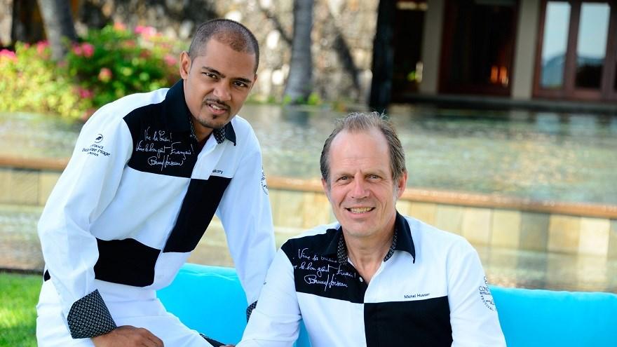 Michel Husser (à d.) et son partenaire Kritesh Halkory ©DR
