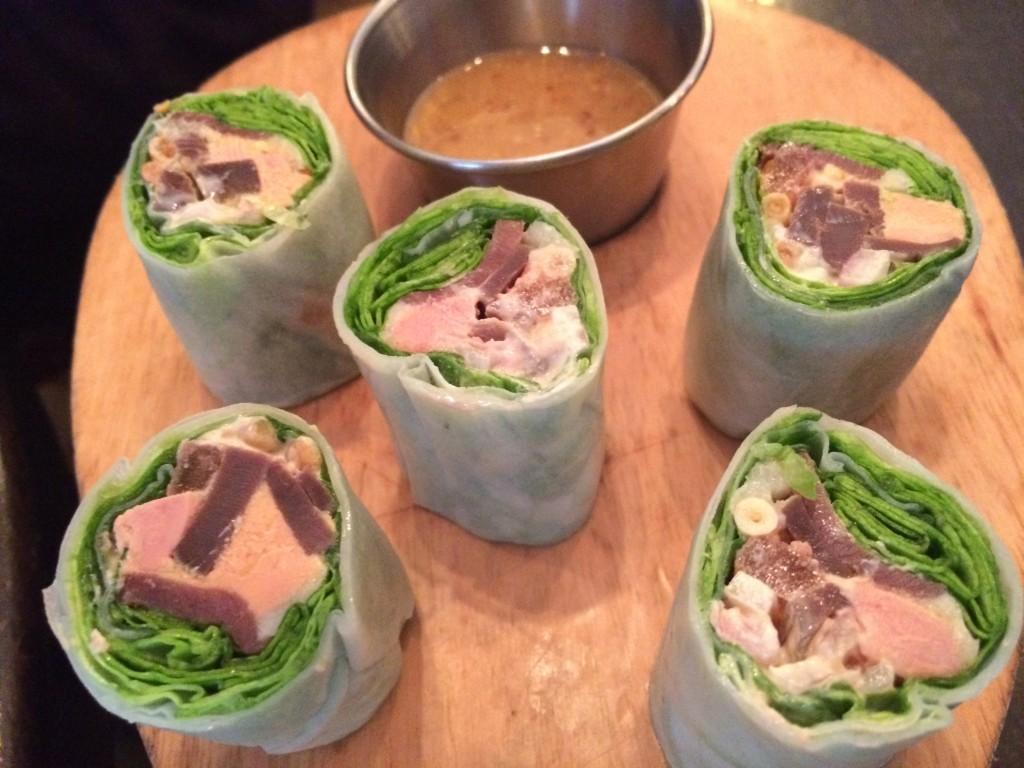 Salade landaise façon nem © GP