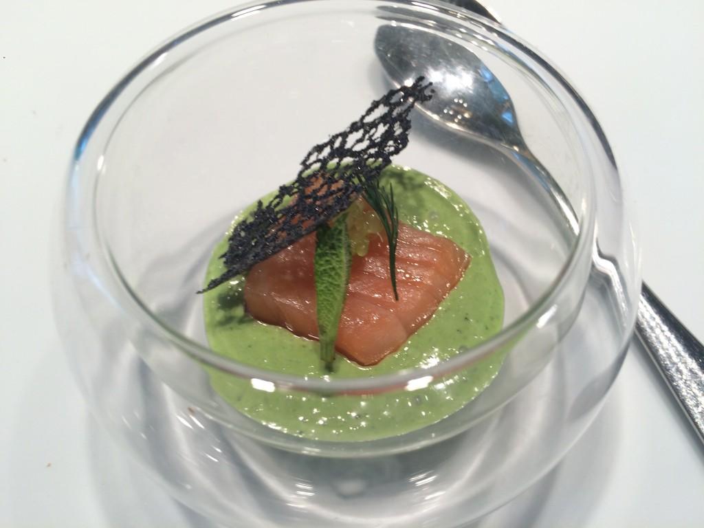 Saumon gravlax crème d'oseille © GP