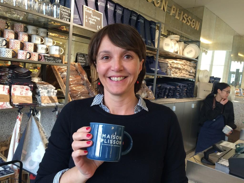 Delphine Plisson et un mug ©GP