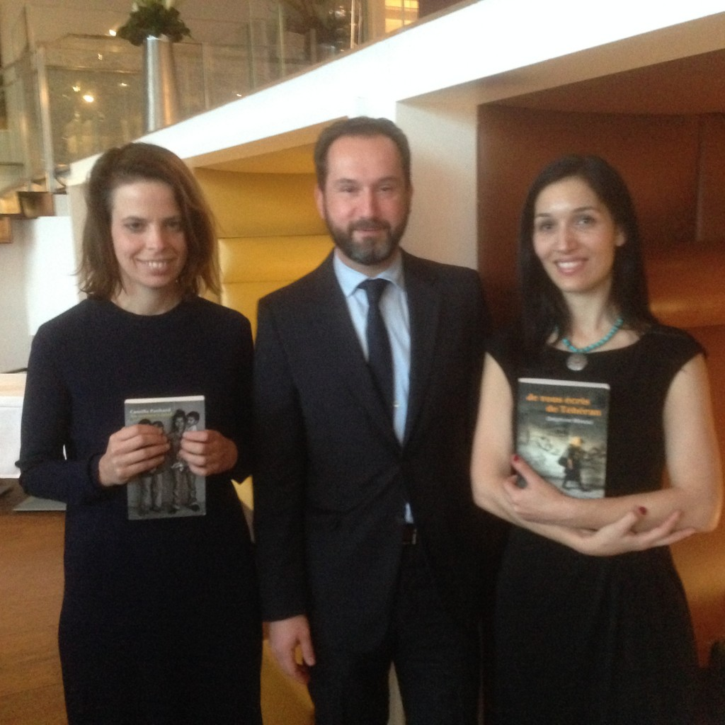 Camille Panhard, Bruno Franck et Delphine Minoui © AA