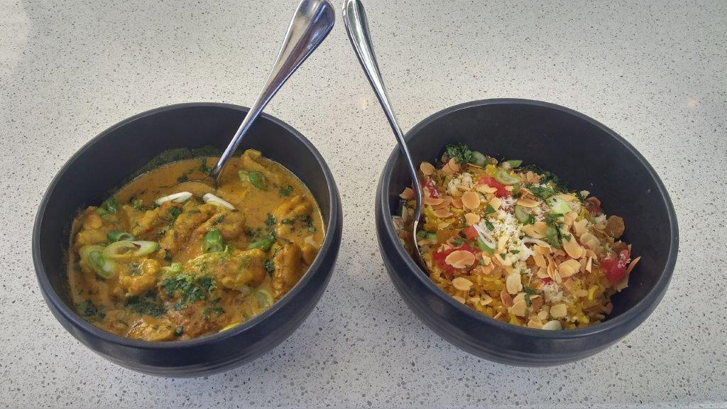 Curry de volaille et riz à l'indienne ©AA