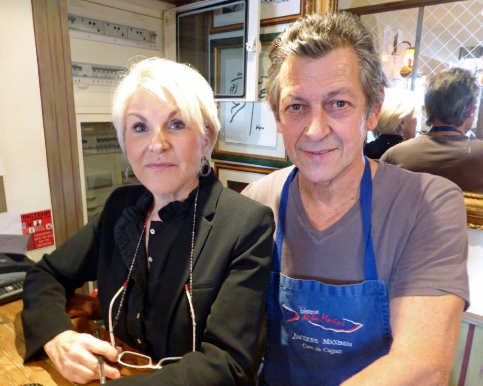 Jacques Maximin avec son épouse Josy à Cagnes © AA
