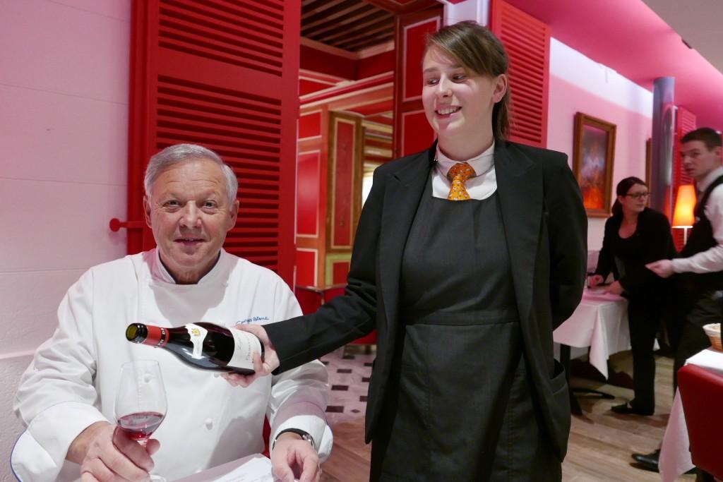 Georges Blanc et le service © GP