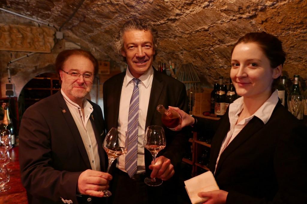 Philippe Faure-Brac, Gérard Bertrand et la sommelière © GP