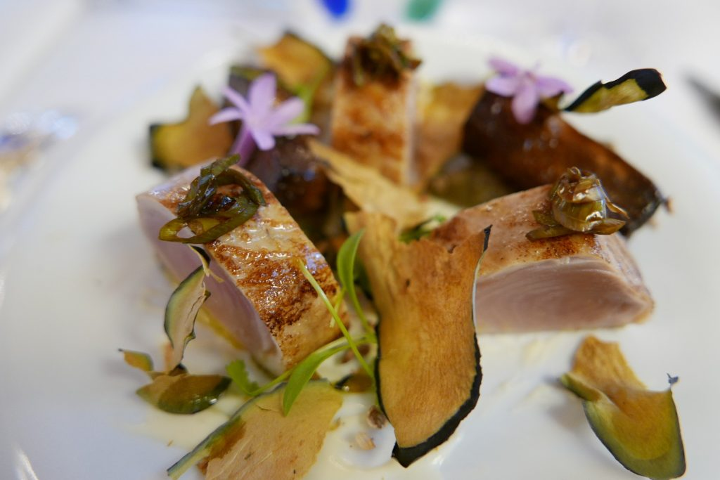Ventrèche de thon et aubergine © GP