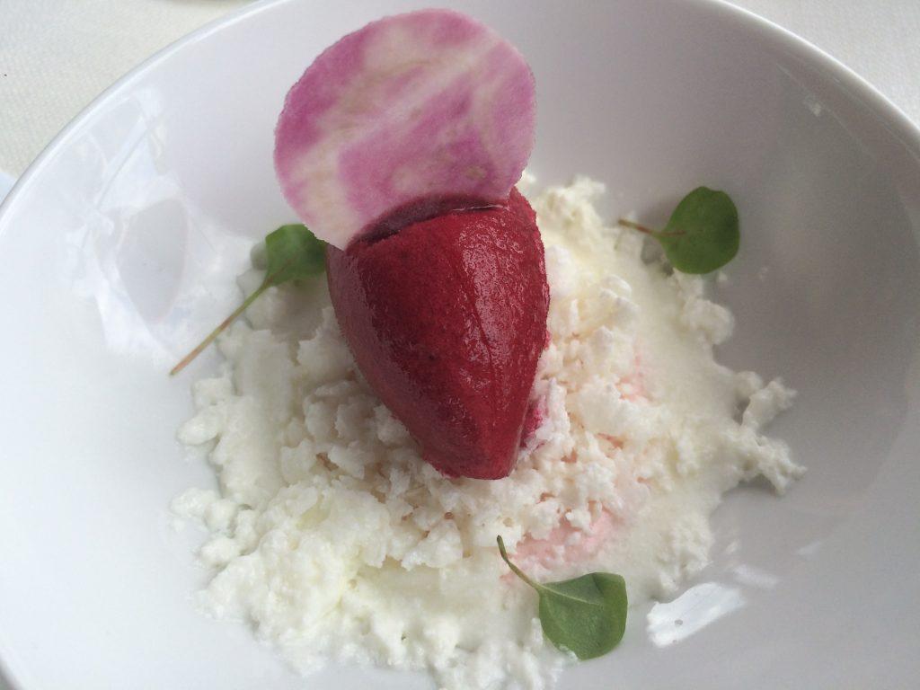 Sorbet betterave et fromage blanc © GP