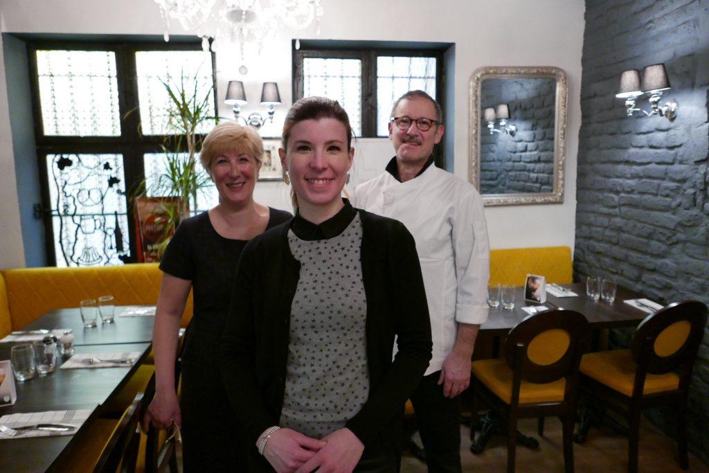 Odette, Joséphine et Hubert Leport ©GP