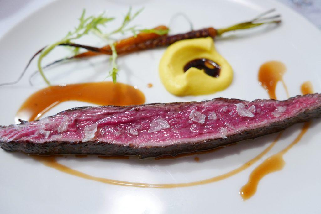 Bavette d'aloyau, purée de carottes © GP
