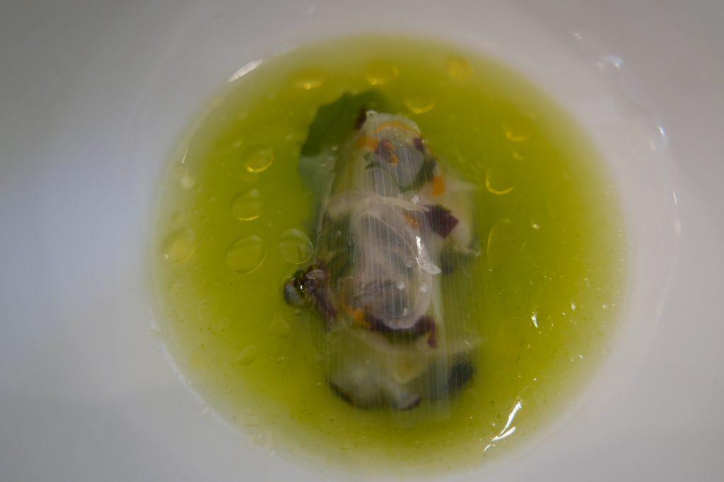 Huître et poireau © GP