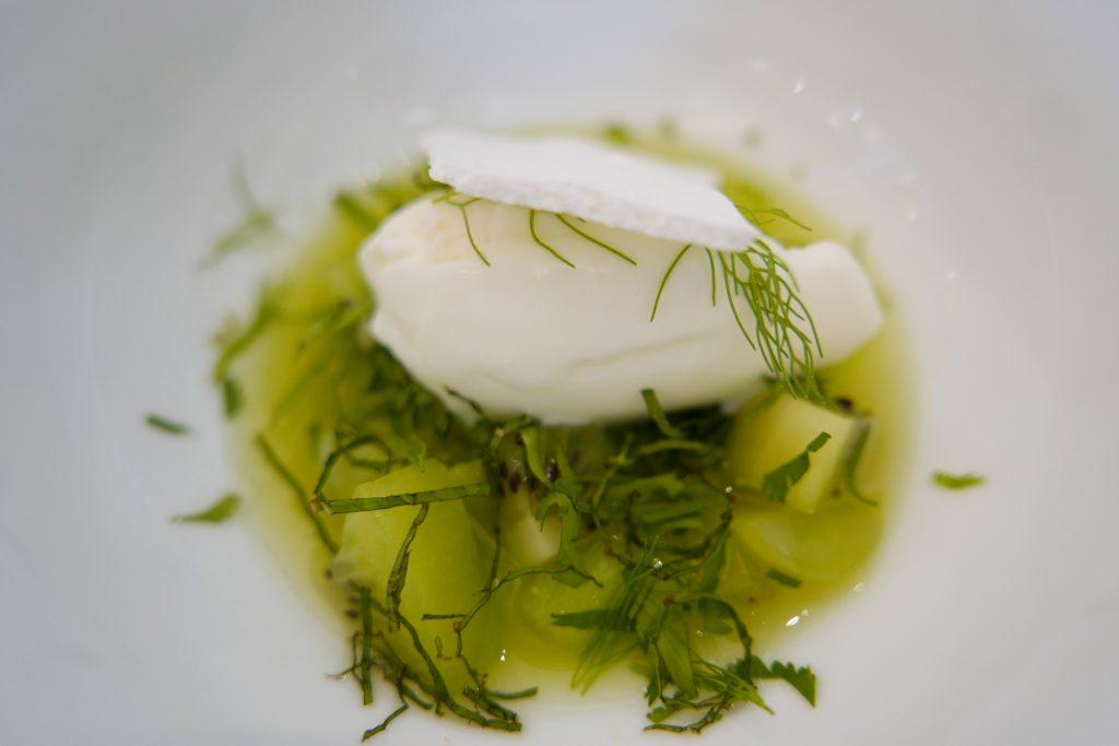 Kiwi concombre sorbet yaourt éclats de meringue ©GP