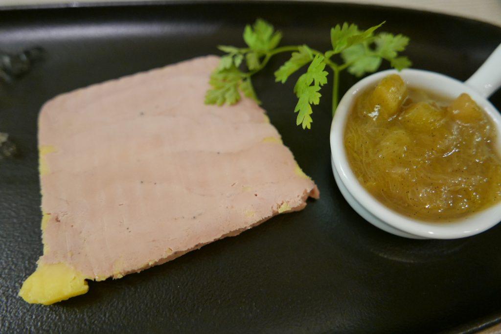 Foie gras et chutney rhubarbe © GP