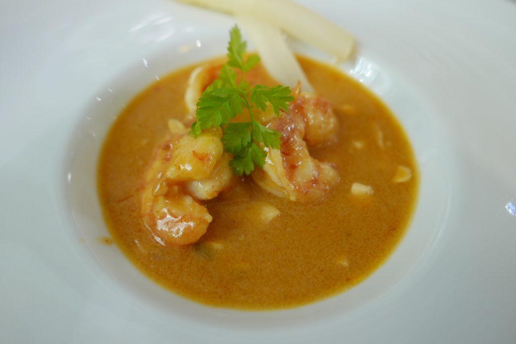 Crevette au lait de coco et curry © GP