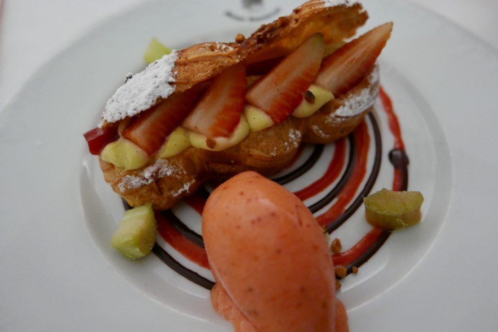 """Paris-Strasbourg"", crème rhubarbe et vanille© GP"