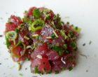 Tartare de thon aux herbes fraîches, huile d'olive vierge © GP