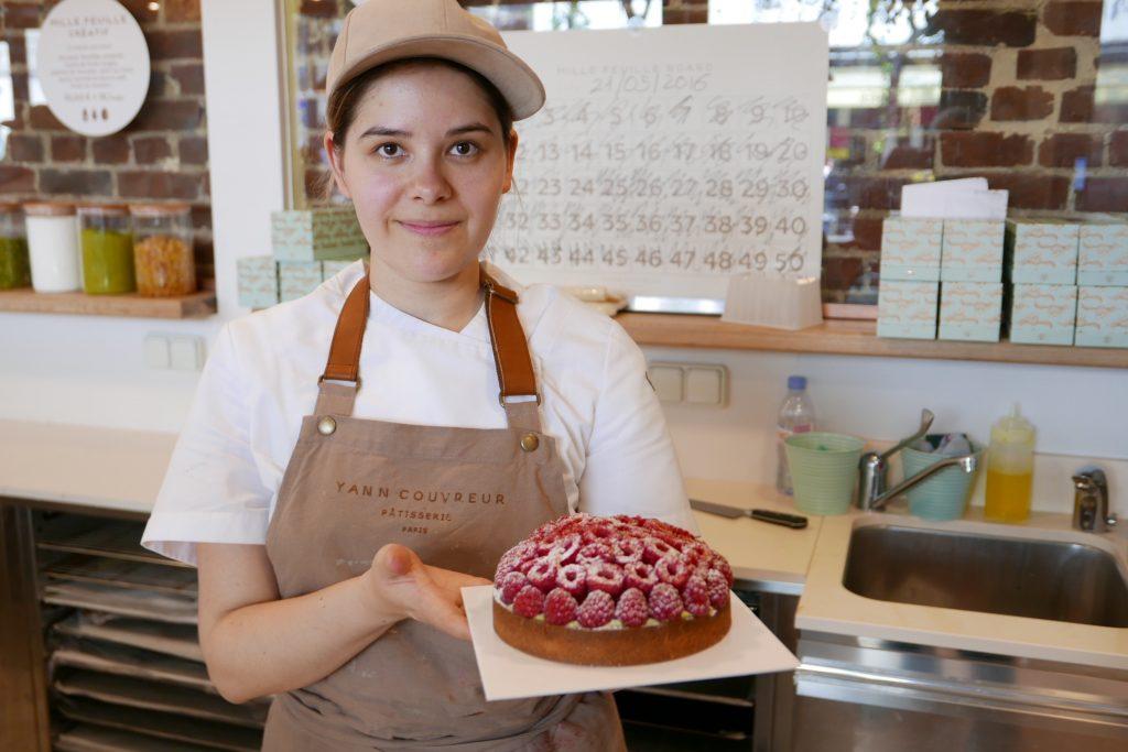 Service de la tarte aux framboises © GP