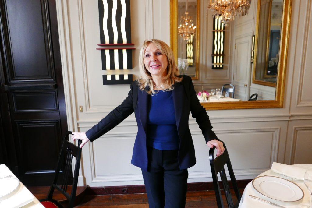 Danièle Pacaud dans la nouvelle salle © GP