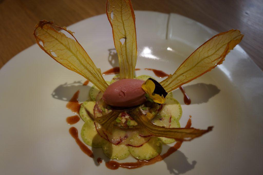 Fleur de courgette cristal et homard ©GP
